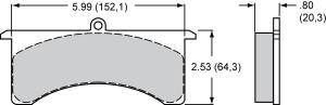 Brake Pad Sets - Circle Track - Grand National III Pads (7520)