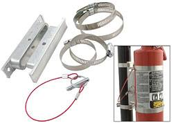 Fire Extinguisher Mounting Brackets - Allstar Quick Release Brackets
