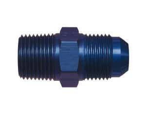 Male Pipe Thread to AN Male Adapters - Male Pipe Thread to Male AN - Blue