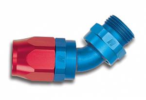 Russell Full Flow Hose Ends - Russell 45° Full Flow Hose to Male NPT Hose Ends