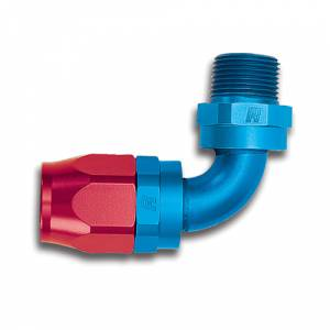 Russell Full Flow Hose Ends - Russell 90° Full Flow Hose to Male NPT Hose Ends