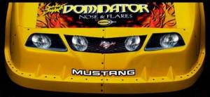 Dirt Late Model Noses and Fenders - Dominator Decal Kits