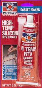 Permatex(R) High-Temp RTV Silicone Gasket Maker - 3 oz  Tube : 81160