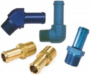 Fittings & Hoses - Pipe Thread to Hose Barb Adapters
