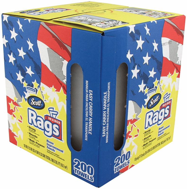 200 Count Box : Scott(R) Rags In