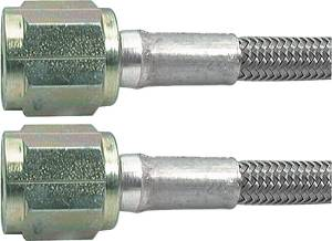 Brake Line Hoses - #3 Braided Steel Hose With -4AN Straight Ends