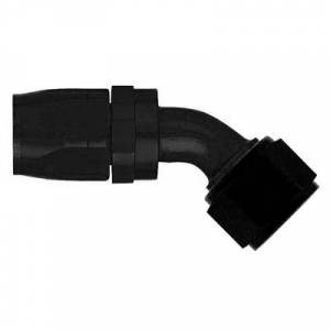 Aeroquip Black Swivel Hose Ends - Aeroquip Black 45° Swivel Hose Ends