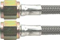 "Allstar Performance - Allstar Performance 36"" -4 Braided Stainless Steel Line w/ -4 Straight Ends"