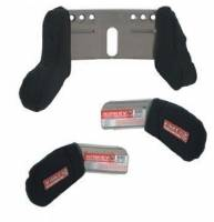 Kirkey Racing Fabrication - Kirkey Head & Shoulder Restraint Kit - Short Left Side - Fits Kirkey Seats - Black Cloth Cover