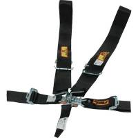 RCI - RCI 5-Point Latch & Link Racing Harness - Pull Down Adjust - Individual Shoulder Harness - Wrap-Around or Bolt In - Black