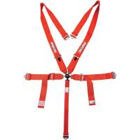 RaceQuip - RaceQuip 5-Point Sportsman SFI 16.1 5-Point Camlock Harness Set - Red