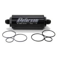Peterson Fluid Systems - Peterson 600 Series Inline Fuel Filter -45 Micron -08 AN Fittings