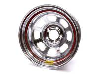 "Bassett Racing Wheels - Bassett IMCA D-Hole Wheel - 15"" x 8"" - 5 x 5"" - Chrome - 5"" Back Spacing - 19 lbs."