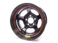 "Bassett Racing Wheels - Bassett IMCA Inertia Wheel - 15"" x 8"" - 5 x 5"" - Black - 4"" Back Spacing - 19 lbs."