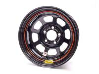 "Bassett Racing Wheels - Bassett IMCA D-Hole Wheel - 15"" x 8"" - 5 x 4.75"" - Black - 4"" Back Spacing - 19 lbs."