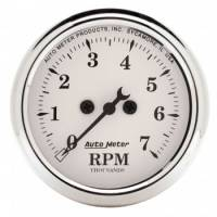 Auto Meter - Auto Meter Old Tyme White Electric Tachometer - 2-1/16""