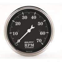Auto Meter - Auto Meter Old Tyme Black Electric Tachometer - 3-1/8""