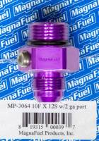 MagnaFuel - MagnaFuel #10 to #12 O-Ring Male Adapter Fitting w/ Gauge