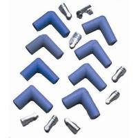 Taylor Cable Products - Taylor Spark Plug Boot and Terminal Kit - Spark Plug Wire Set - 90 Degree(Blue)
