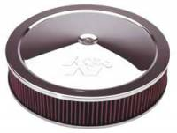 "K&N Filters - K&N Air Cleaner Assembly - Drop Base - Chrome - 16"" x 3-1/4"" - 7-5/16"" Carb Flange"