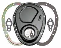 Trans-Dapt Performance - Trans-Dapt SB Chevy Black 2 Pc. Timing Cover