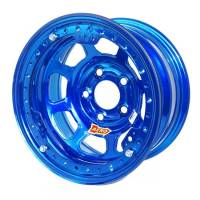 "Aero Race Wheel - Aero 53 Series IMCA Rolled Beadlock Wheel - BlueChrome - 15"" x 8"" - 5 x 5"" Bolt Circle - 3"" Back Spacing - 23 lbs."