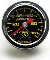 Russell Performance Products - Russell 0-100 psi Fuel Pressure Gauge Black Face/Chrome Case