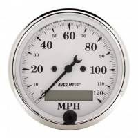 Auto Meter - Auto Meter Old Tyme White Electric Programmable Speedometer - 3-1/8 in.