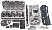 Edelbrock - Edelbrock Power Package Top End Kit - Includes Performer RPM Oval Port Intake and Heads/Late Model Hydraulic Roller Camshaft and Lifters/Timing Chain/Gasket Set -/Bolt Kit -