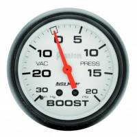 Auto Meter - Auto Meter Phantom Mechanical Boost / Vacuum Gauge - 2-5/8 in.