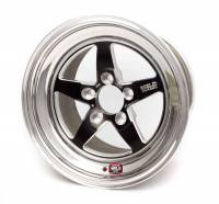 "Weld Racing - Weld R-TS Forged Aluminum Black Anodized Wheel - 15"" x 4"" - 5 x 4.75"" Bolt Circle - 2.5"" Back Spacing - 10.4 lbs"