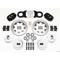 Wilwood Engineering - Wilwood Forged Dynalite Big Brake Front Brake Kit (Hub) - Black Anodized Caliper - Plain Face Rotor - 65-69 Mustang