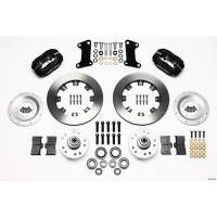 Wilwood Engineering - Wilwood Forged Dynalite Big Brake Front Brake Kit (Hub) - Black Anodized Caliper - Plain Face Rotor - 67-72 Camaro Nova