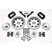 Wilwood Engineering - Wilwood Forged Dynalite Big Brake Front Brake Kit (Hub) - Black Anodized Caliper - SRP Drilled & Slotted Rotor - 79-81 Camaro