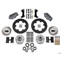 Wilwood Engineering - Wilwood Forged Dynalite Front Drag Brake Kit - Black Anodized Caliper - Drilled Rotor - GM