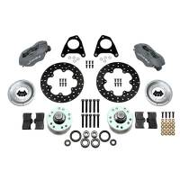 Wilwood Engineering - Wilwood Forged Dynalite Front Drag Brake Kit - Black Anodized Caliper - Drilled Rotor - 87-93 Mustang 84-86 SVO