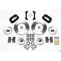 Wilwood Engineering - Wilwood Forged Dynalite Pro Series Front Brake Kit - Black Anodized Caliper - Plain Face Rotor - 80-87 GM A Body