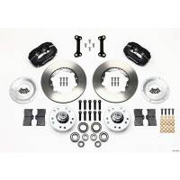 "Wilwood Engineering - Wilwood Forged Dynalite Pro Series Front Brake Kit - Black Anodized Caliper - Plain Face Rotor - 11.00"" 82 -92 Camaro"