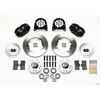 Wilwood Engineering - Wilwood Forged Dynalite Pro Series Front Brake Kit - Black Anodized Caliper - Plain Face Rotor - 37-48 Ford-Billet
