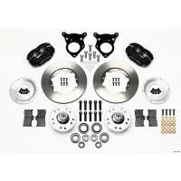 Wilwood Engineering - Wilwood Forged Dynalite Pro Series Front Brake Kit - Black Anodized Caliper - Plain Face Rotor - 87-93 Mustang