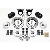 "Wilwood Engineering - Wilwood Forged Dynalite Pro Series Front Brake Kit - Black Anodized Caliper - SRP Drilled & Slotted Rotor - 87-93 Mustang 10.75"" Rotor"