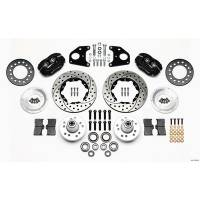 Wilwood Engineering - Wilwood Forged Dynalite Pro Series Front Brake Kit - Black Anodized Caliper - SRP Drilled & Slotted Rotor - 11in Rotr E-Body