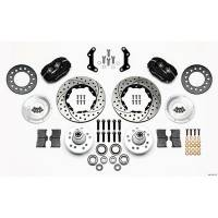 Wilwood Engineering - Wilwood Forged Dynalite Pro Series Front Brake Kit - Black Anodized Caliper - SRP Drilled & Slotted Rotor - Mopar B&E Body HD for Disc Special