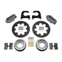 Wilwood Engineering - Wilwood Forged Dynalite Rear Drag Brake Kit - Black Anodized Caliper - Drilled Rotor - New Big Ford