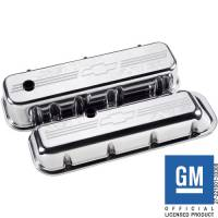 Billet Specialties - Billet Specialties BB Chevy Short Chevy Power Valve Covers - Stock Height - Polished - BB Chevy - (Set of 2)