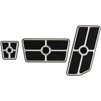 Billet Specialties - Billet Specialties Universal Pedal Kit - Gas/Brake - Grooved - Black