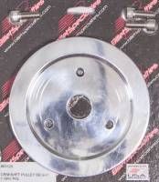 Billet Specialties - Billet Specialties Polished BB Chevy Single Groove Crankshaft Pulley - BB Chevy - Short Water Pump