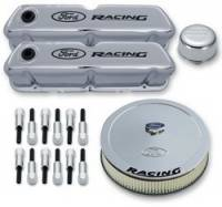 Proform Performance Parts - Proform Ford Deluxe Engine Dress-Up Kit - Chrome w/ Black Emblems