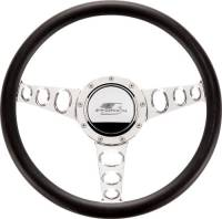 Billet Specialties - Billet Specialties Half Wrap Steering Wheel - Outlaw - Polished - 3-Spoke - 14 in. Diameter