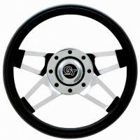 "Grant Products - Grant Challenger Series Steering Wheel - 13 1/2"" - Black / Chrome"